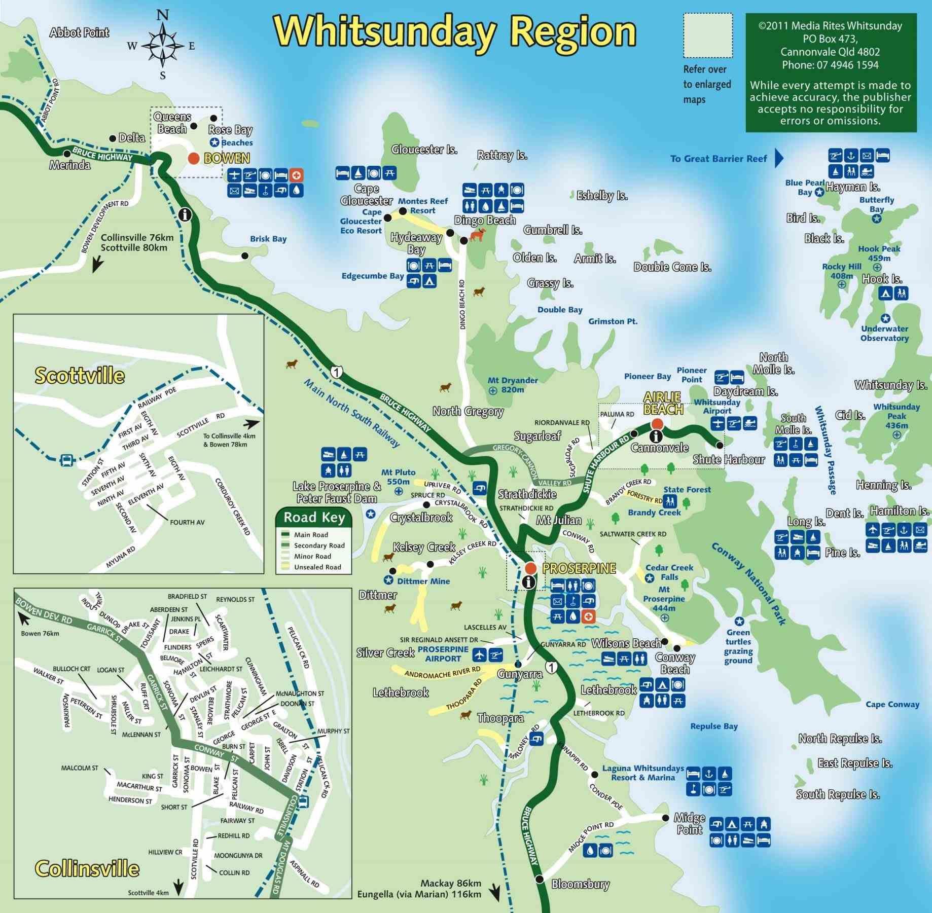 Area Queensland Describes Airlie Beach Australia Map Where Is - Australia map queensland