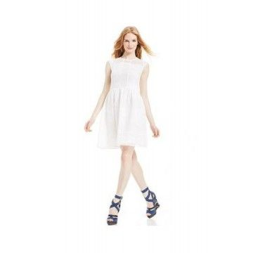 8aad89124 BETSEY JOHNSON Cap-Sleeve Eyelet Lace Dress Fresh Markdowns via ...