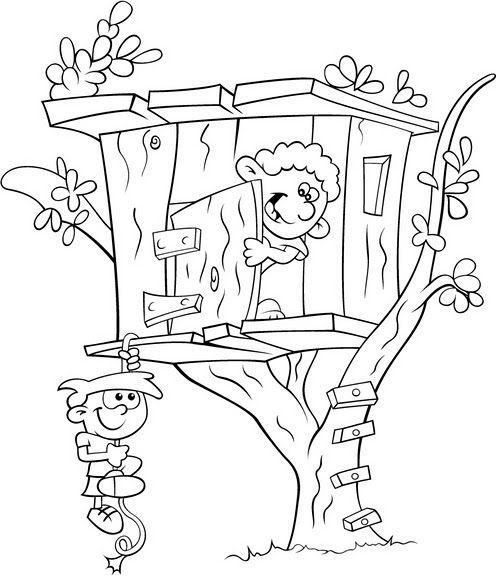 Häuser Ausmalbilder. Malvorlagen Zeichnung druckbare nº 3 ...