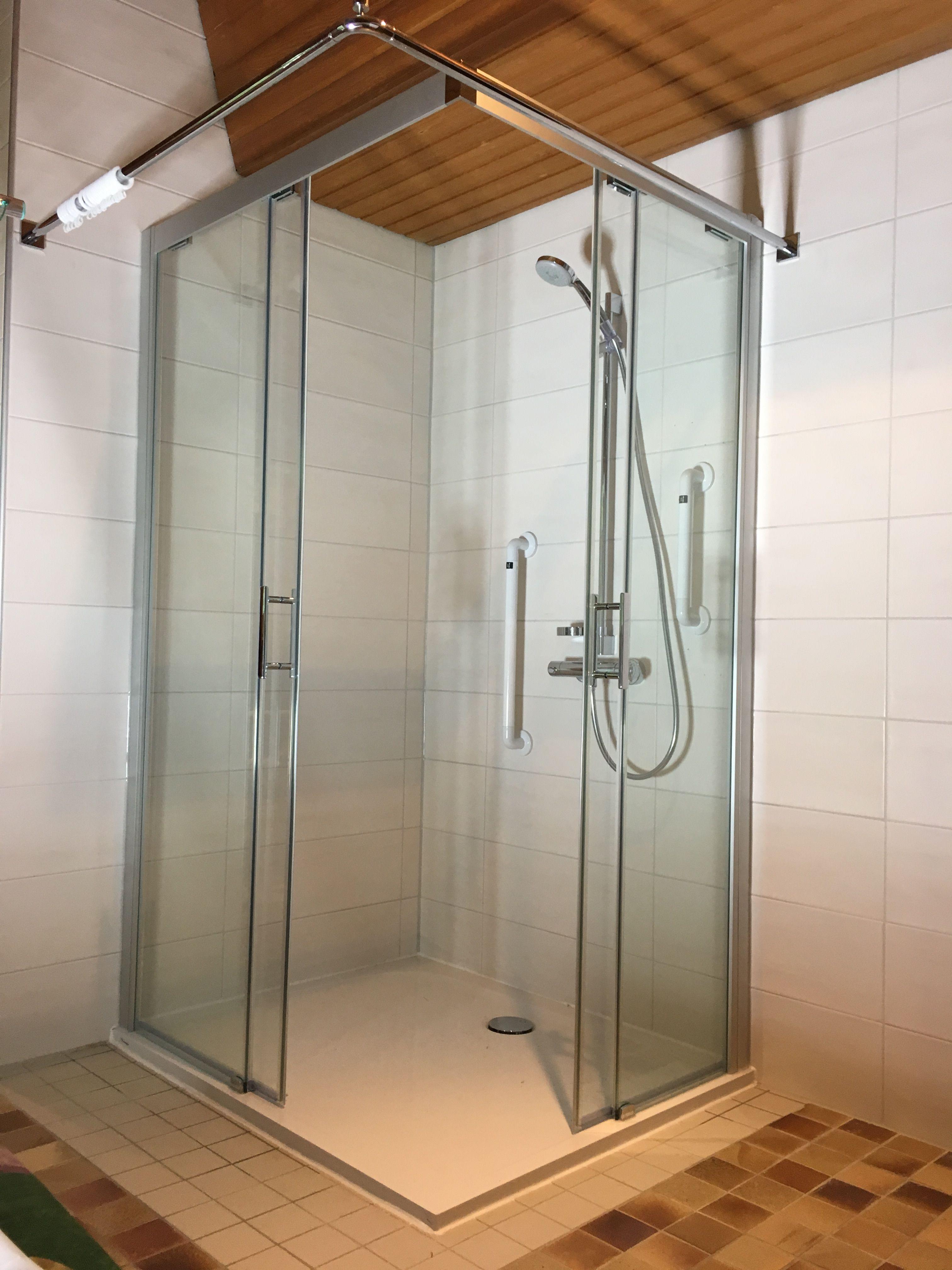 Duschkabine Schiebeture Montiert Aus Glas Mit Bildern