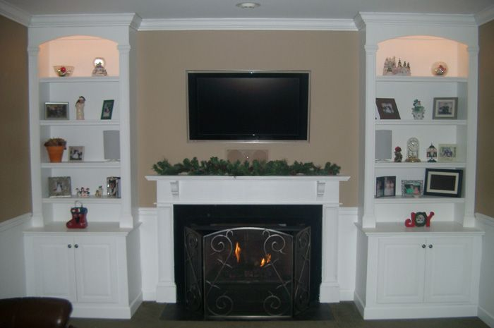 Bookcase Built In Cabinets Around Fireplace | ... Fireplace ...