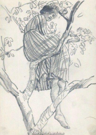 Atemberaubende urgetocreate: Lady Laura Knight, Studie eines entspannenden Baummodells, ca.1916, ...  #baummodells #eines #entspannenden #knight #laura #studie #urgetocreate