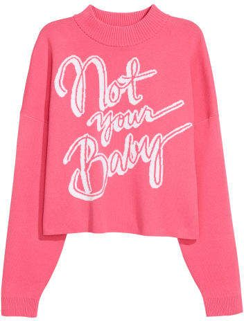 H M Jacquard-knit Sweater - Pink 7ba243759