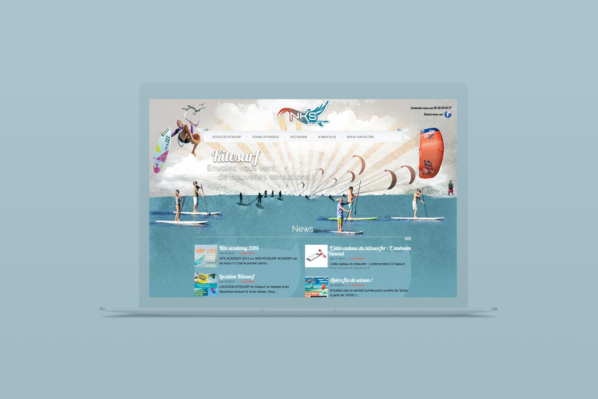 Kite surf • Site internet • Webdesign • Wordpress • NKS