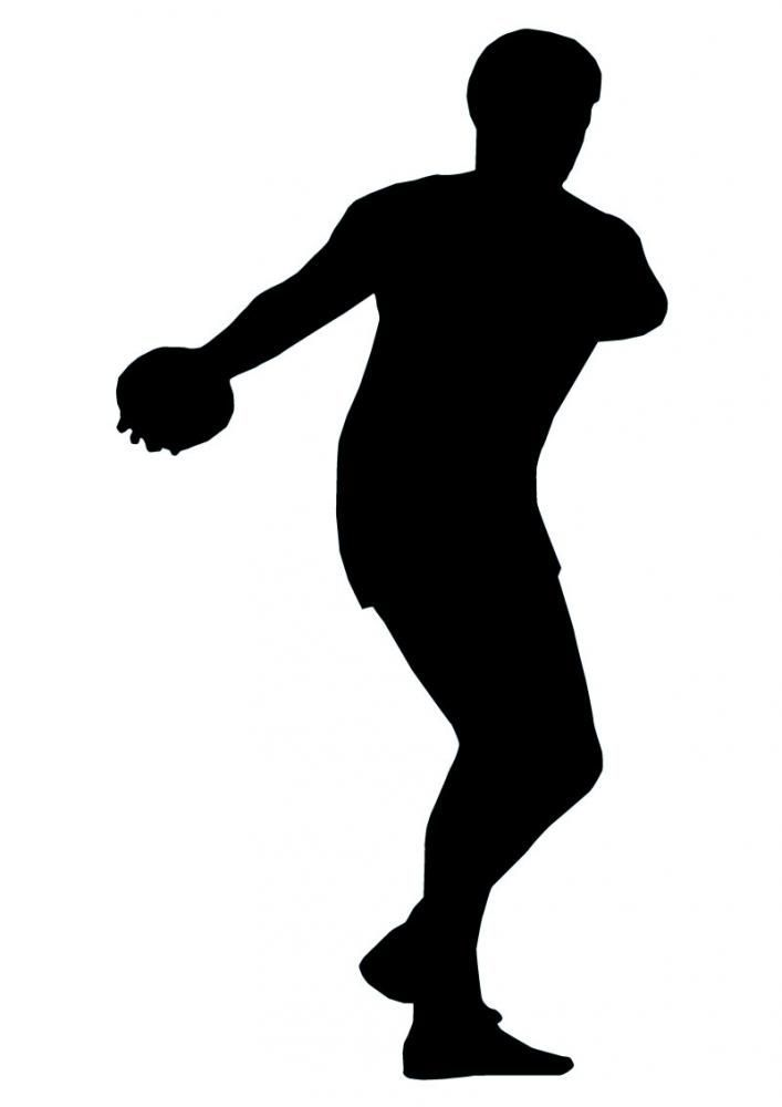 Olympic Discus Thrower Silhouette Vinyl Wall Decal Sticker ... |Discus Thrower Silhouette
