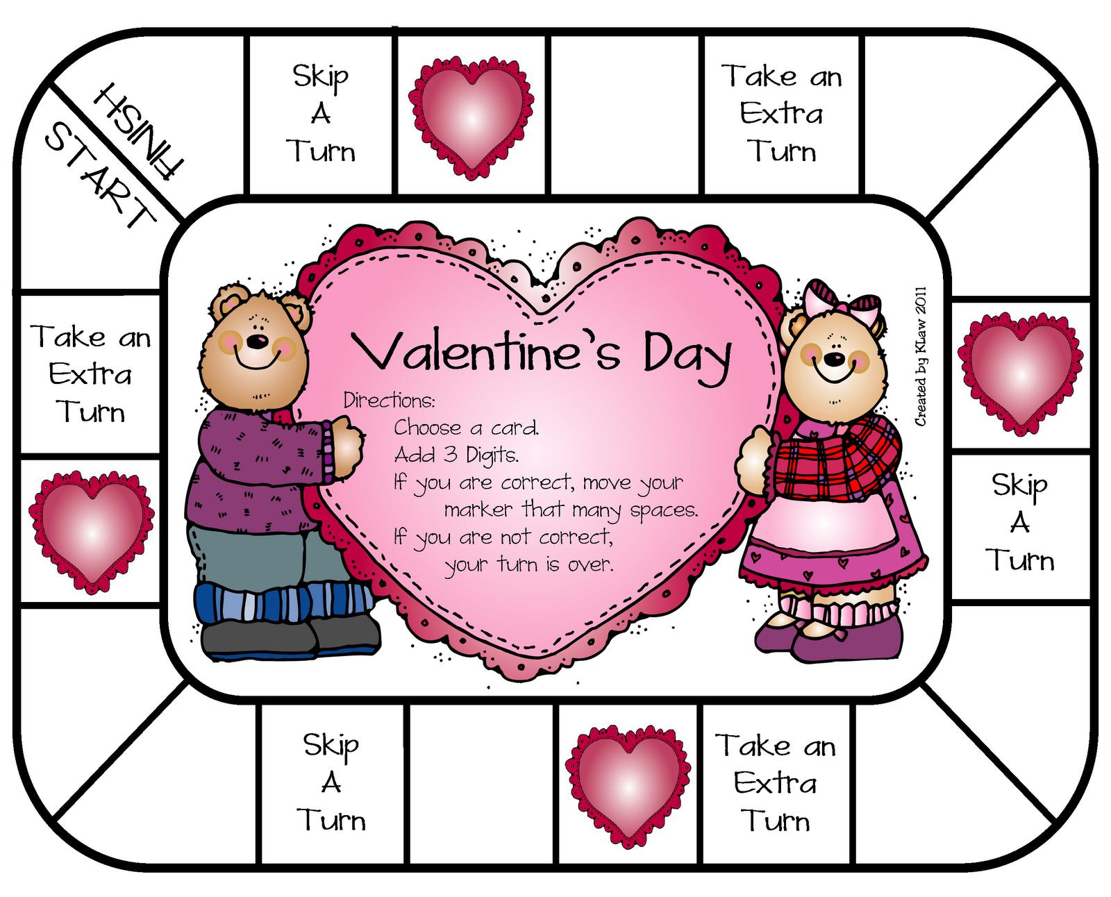 Valentines Day Game | Valentine\'s - Kids | Pinterest | Teacher, Math ...