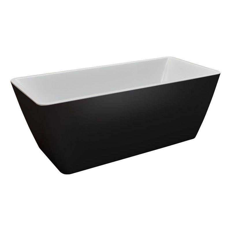 Badkar fristående camargue marstrand svart/vit 170x75cm