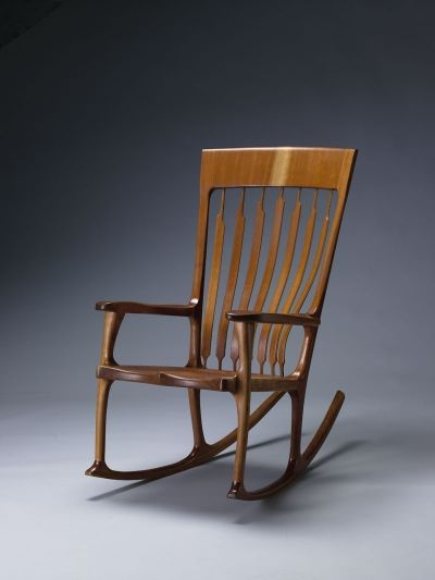 Cherry Rocker By Kit Clark A Member Of The Guild Vermont Furniture Makers
