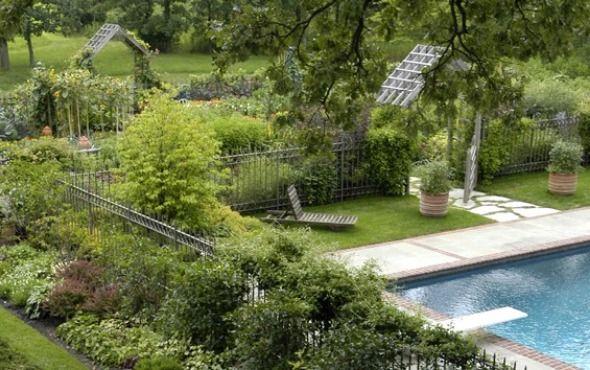 Beautiful Vegetable Garden Design: Traditional Beautiful Vegetable Garden Design Beautiful Brilliant Harmonious Vegetable Garden Concept At Swimming