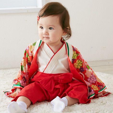 4bdecab2ee745 女の子 十二単袴風カバーオール(かぶりタイプ) 通販  ニッセン  ベビー服 カバーオール・