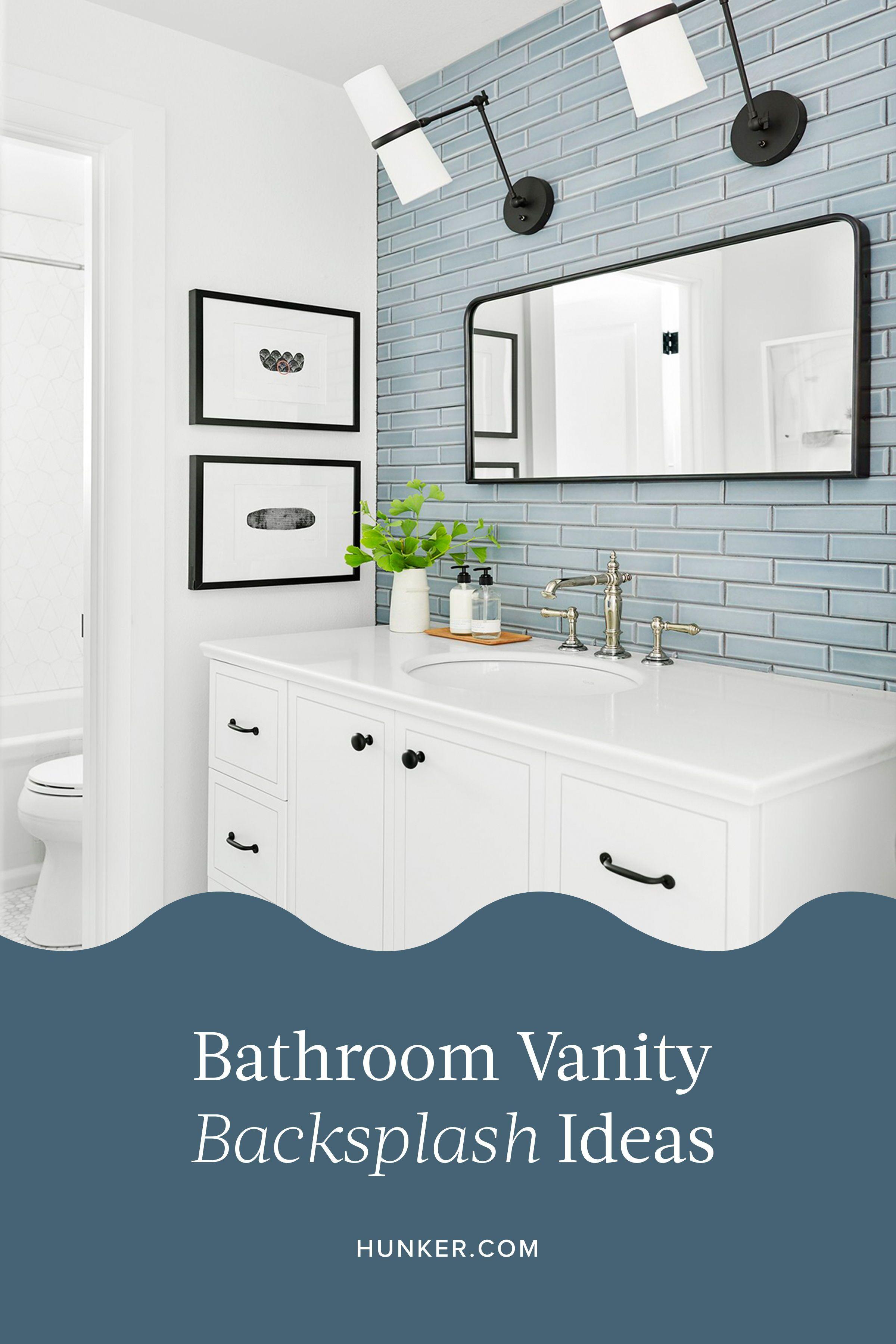 18++ Bathroom vanity backsplash or not ideas