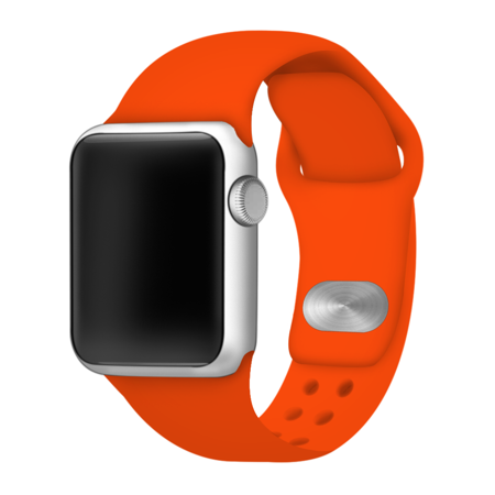 Orange Silicone Sport Band For 38mm And 40mm Apple Watch Size 38 Apple Watch 38mm Apple Watch Band Apple Watch Bands