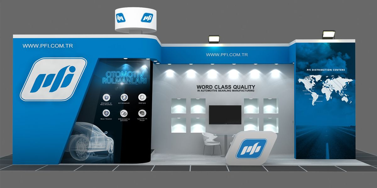 Trade Show Booth Graphic Design : Trade show booth graphics design for pfi bearings in