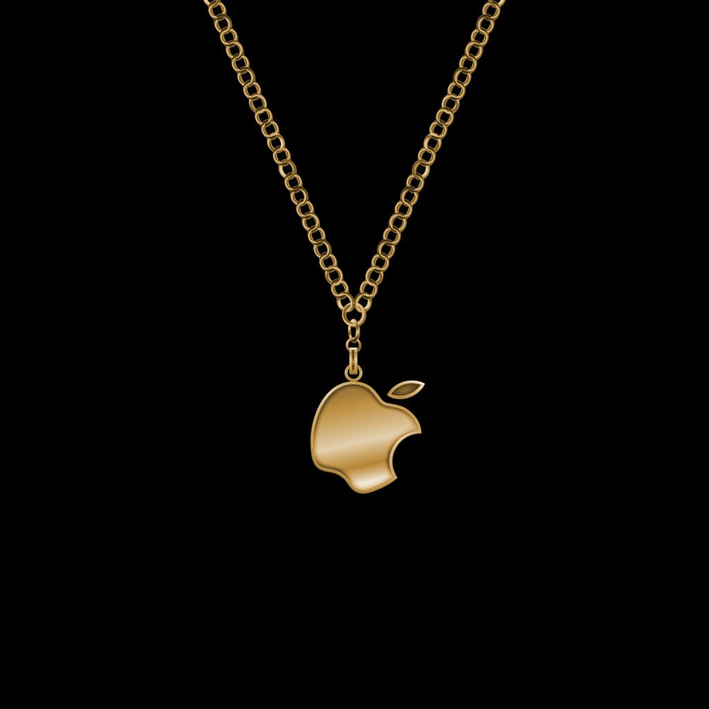 Apple Gold Chain Wallpaper 1024x1024 Necklace Gold Gold Chains