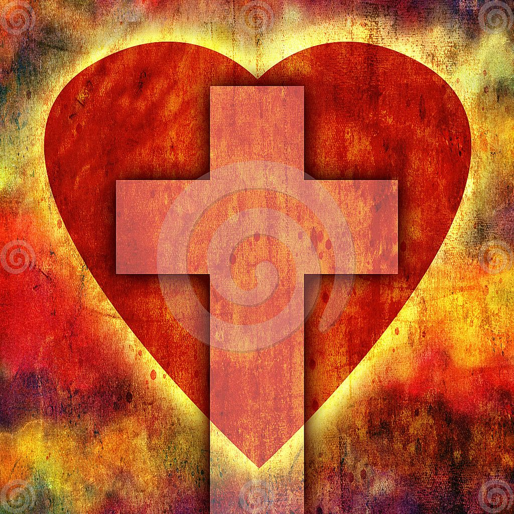 Royalty Free Illustration Heart Cross Image 10101006 Art By Billy Frank Alexander With Images Cross Art Stock Images Free Christian Cross