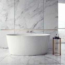Soakology - Dauphin 1600 x 720 freestanding bath - Gloss White
