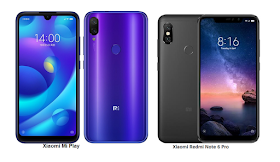 Tspn1 Xiaomi Mi Play Vs Xiaomi Redmi Note 6 Pro Comparisons Smartphone Technology Smartphone Deals Xiaomi