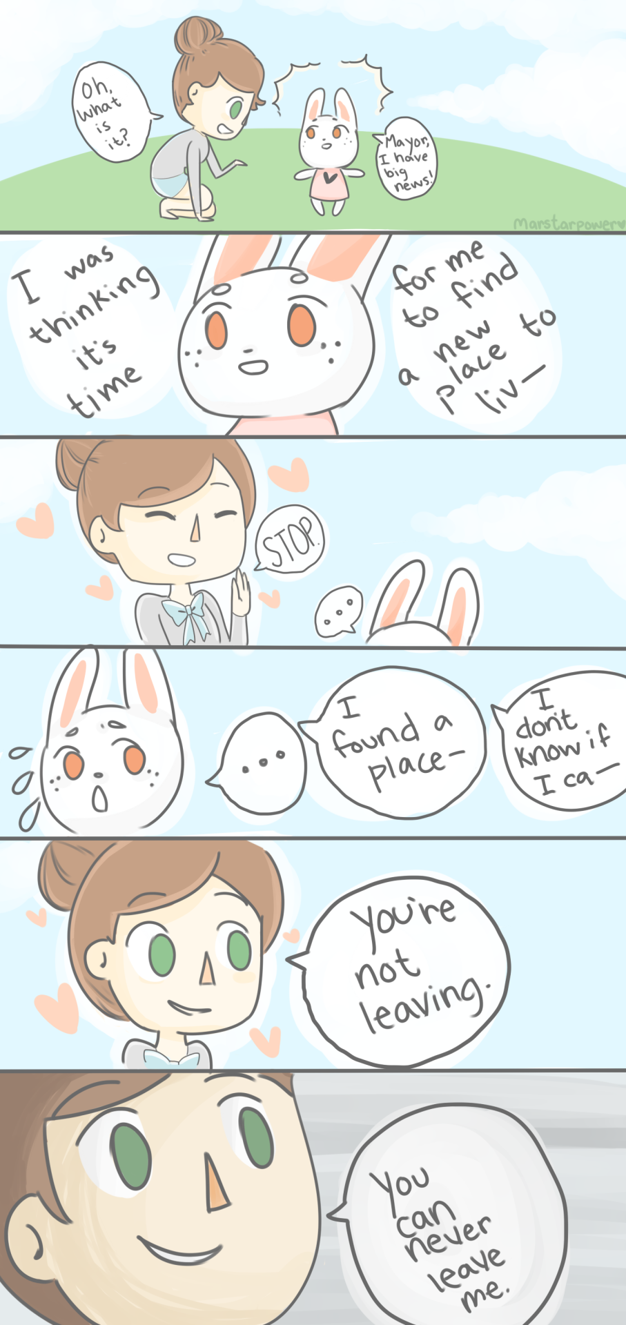 quick animal crossing comic, i guess lolthis is what would happen if i finally got a bunny in my town.