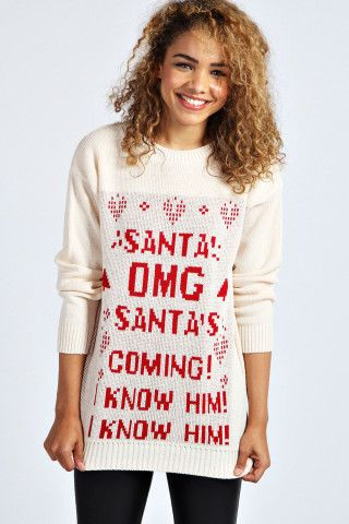 Samia Santa Elf Christmas Jumper | Haute Holidays | Pinterest ...