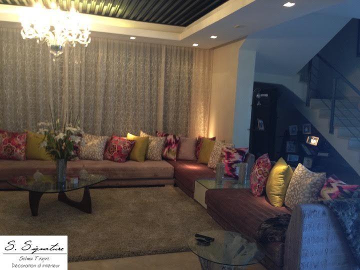 s-signature salon marocain moderne mauve claire | salon marocain en ...