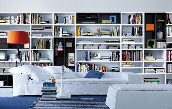 Modern Bookshelves elegant wall-to-wall shelving for your home | wall shelving