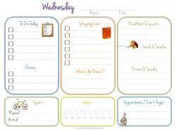 Daily Calendar Template  Planner    Planner Template