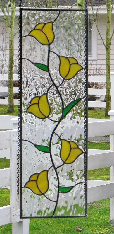 Pretty flower panel | vitrales | Pinterest | Vidrio, Vidrieras y ...