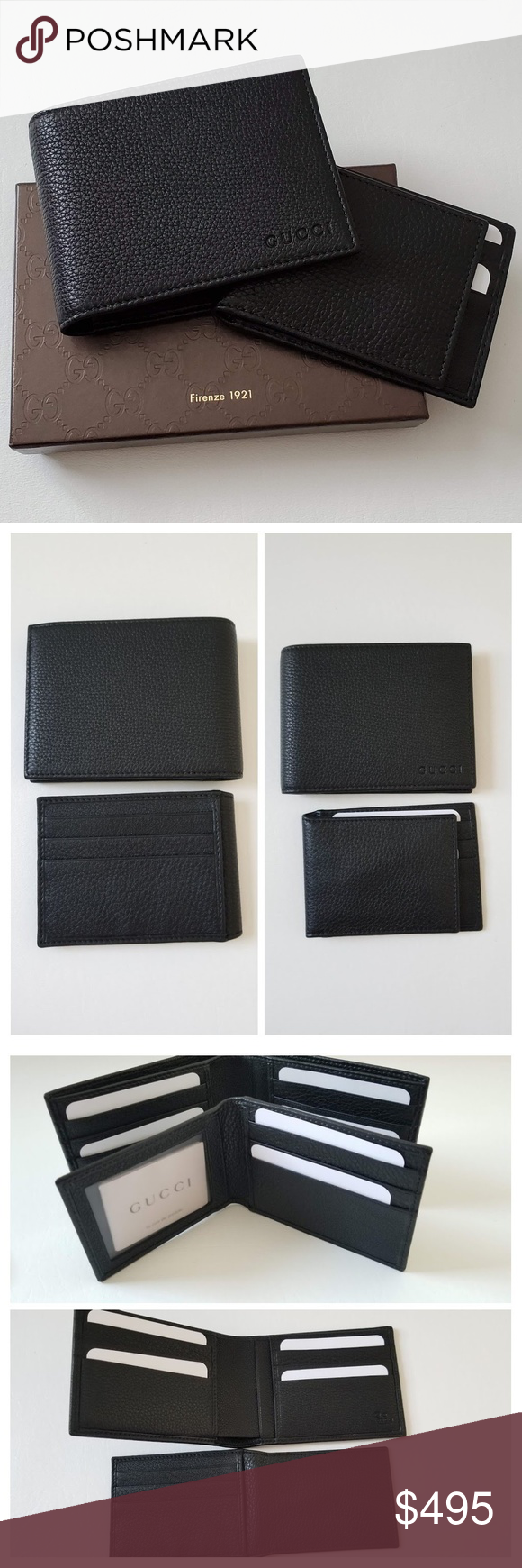 2fc818a6b55d NEW GUCCI Men Leather w removable I.D. Case Wallet **Guarantee 100% authentic  Brand