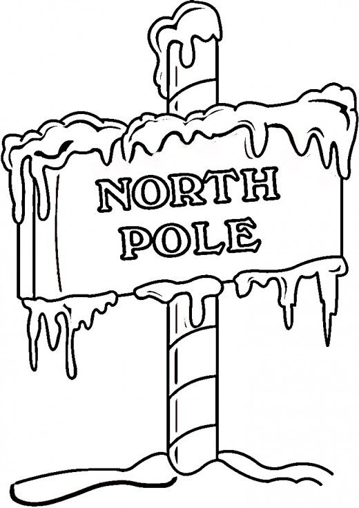 North Pole Printables Coloring