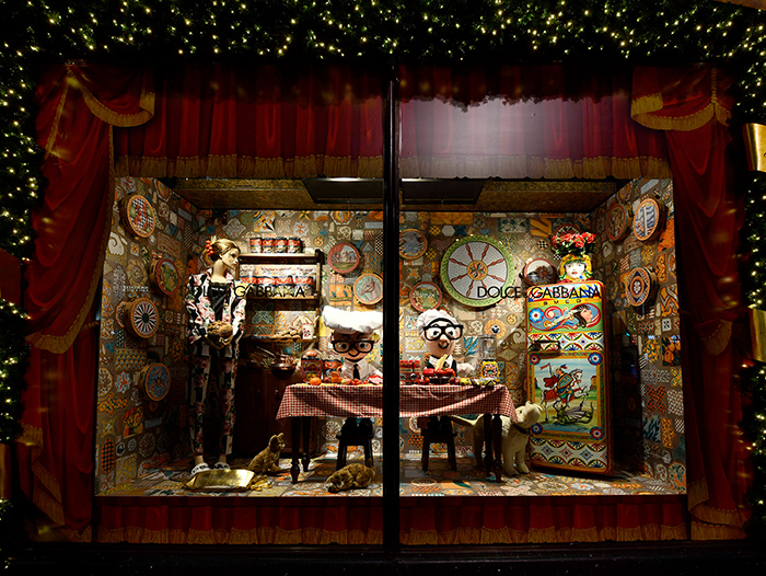Dolce And Gabbana -Spring 2020 -Love Christmas A Sicilian Christmas – Smeg + Dolce & Gabbana Harrods Takeover in