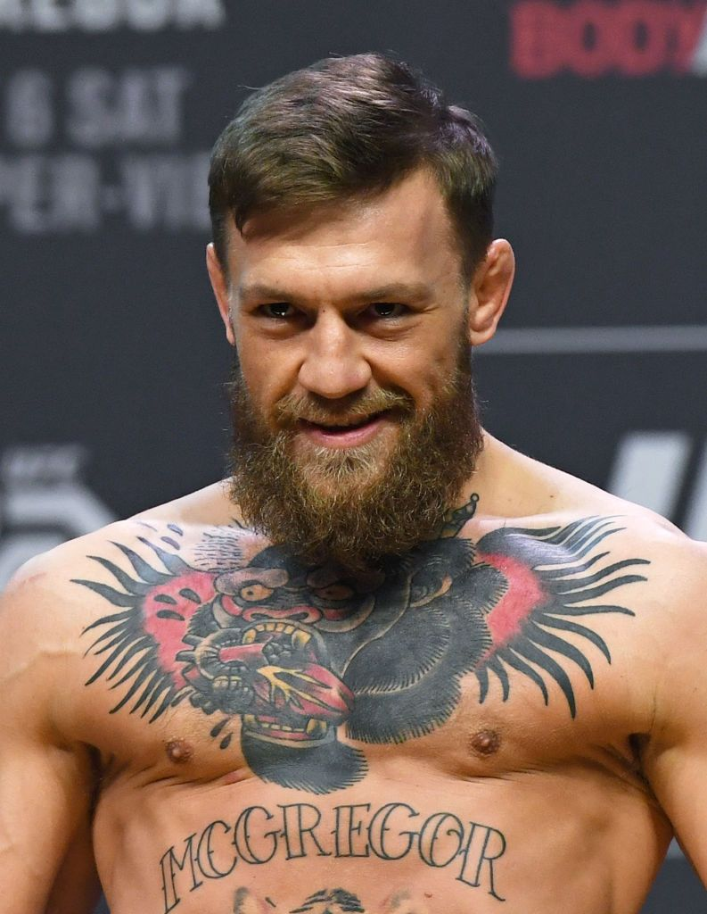 Conor Mcgregor Poses During A Ceremonial Weigh In For Ufc 229 At In 2020 Conor Mcgregor Poster Conor Mcgregor Ufc