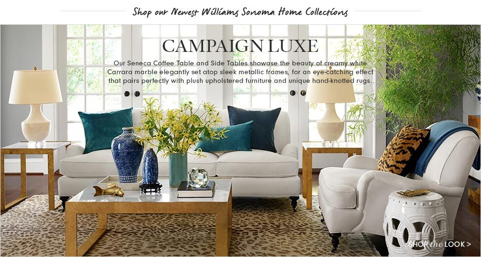 William Sonoma Living Room Furniture Collections Luxe Living