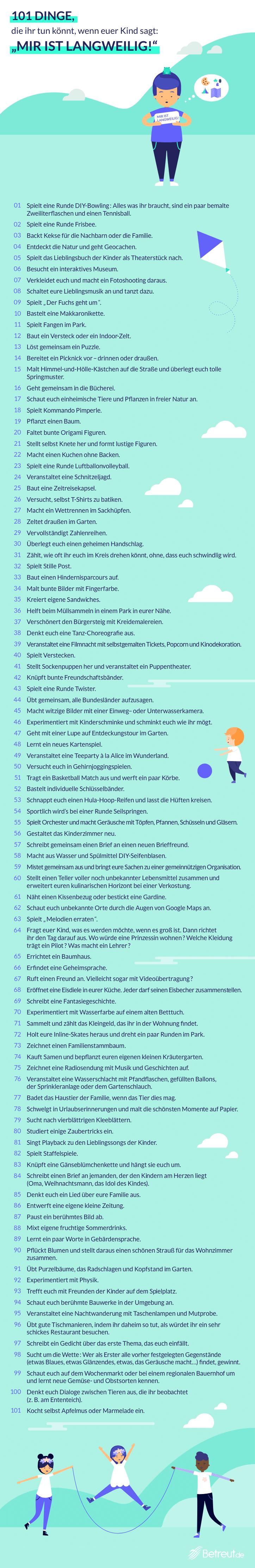 Was tun gegen Langeweile: 101 Ideen für Spiel und Spaß mit