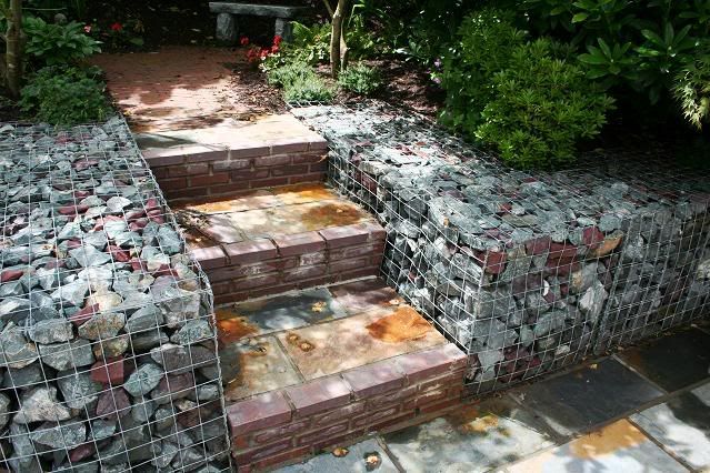 gabion design ideas gardendrum gabion walls by earthworks landscape services ireland national garden - Gabion Walls Design