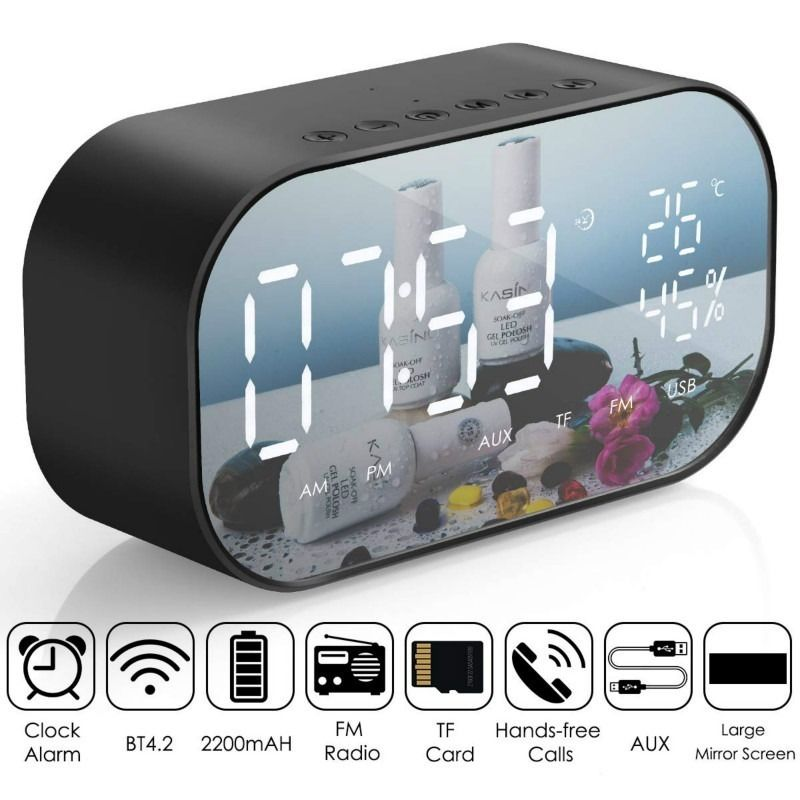 LED Alarm Clock with Radio Speaker #alarmclock #fmradio #ledclock #radio #speaker #wirelessspeaker #NewYork #LosAngeles #Chicago #Washington #Dallas #Ashburn #SanFrancisco #Austin #England #Canada #Germany #Moscow #France #Spain #Netherlands #Australia