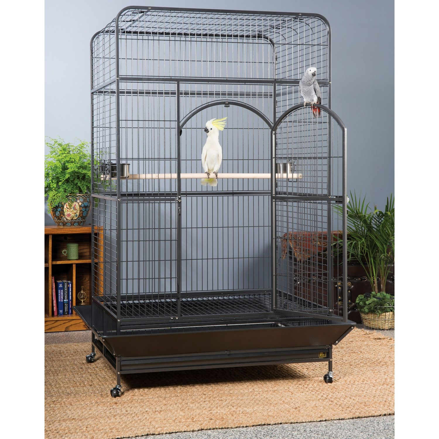 Extra large bird cage seed guard