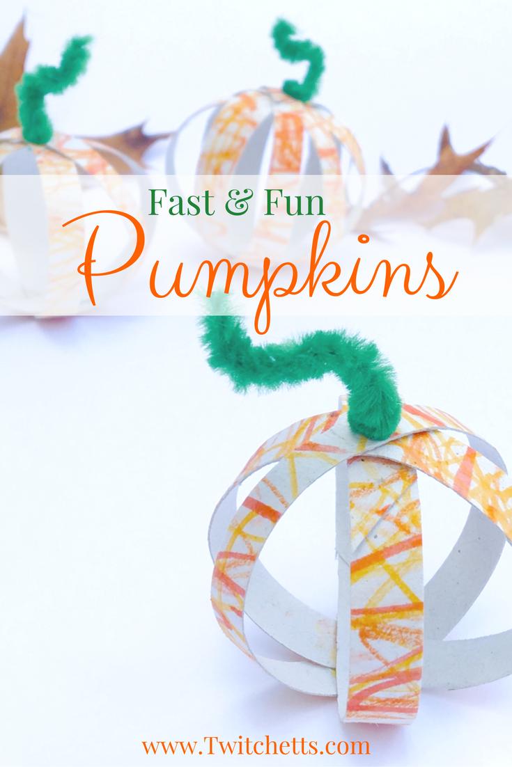 Toilet Paper Tube Pumpkins ~ A Fall Craft