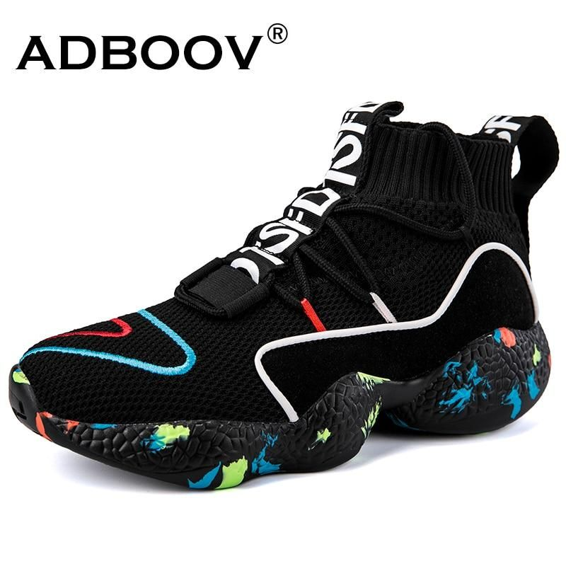 ADBOOV Knit Upper Breathable High Top Sneakers Women