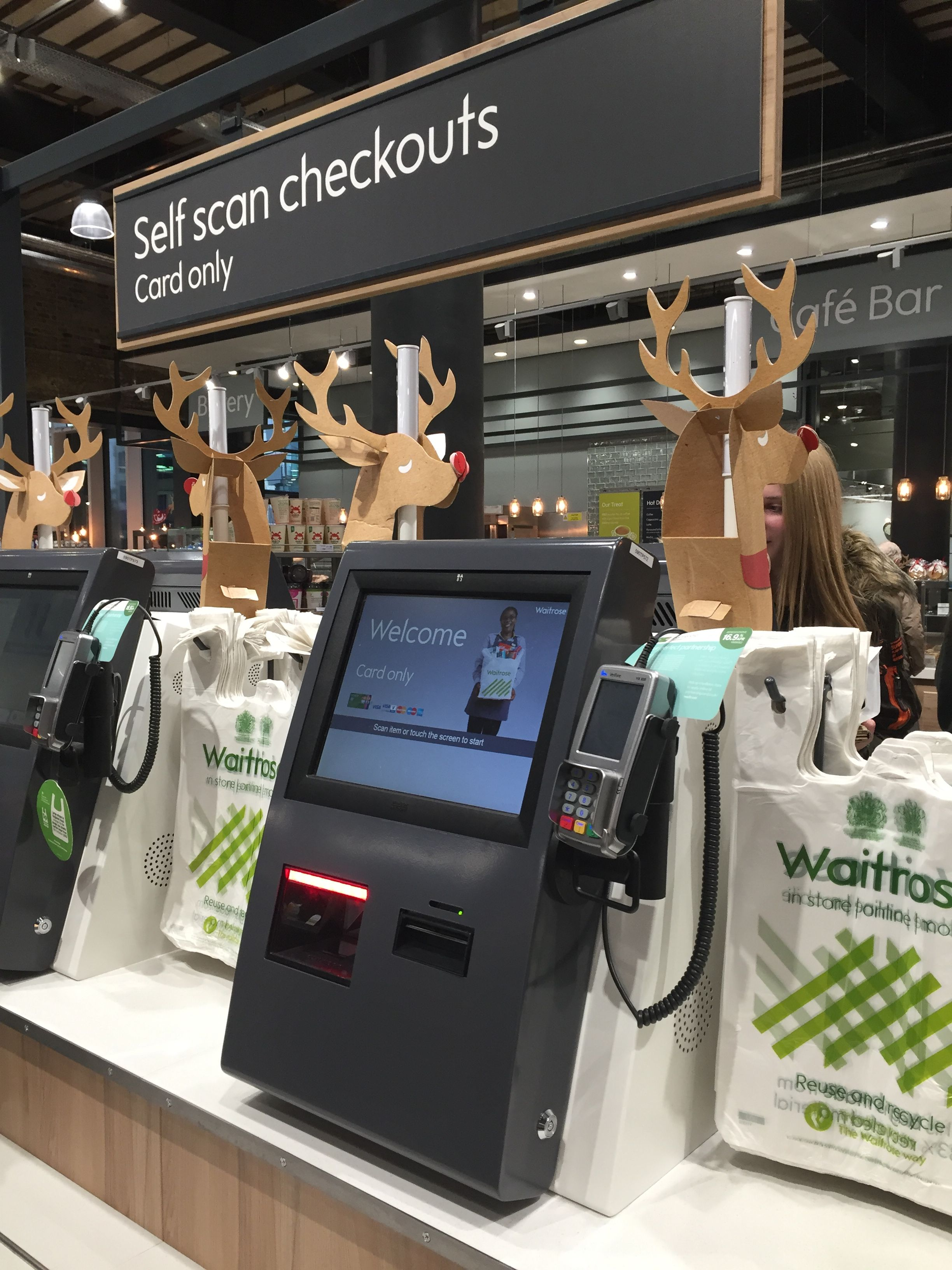 Everyone is going Reindeer crazy.this is Waitrose near