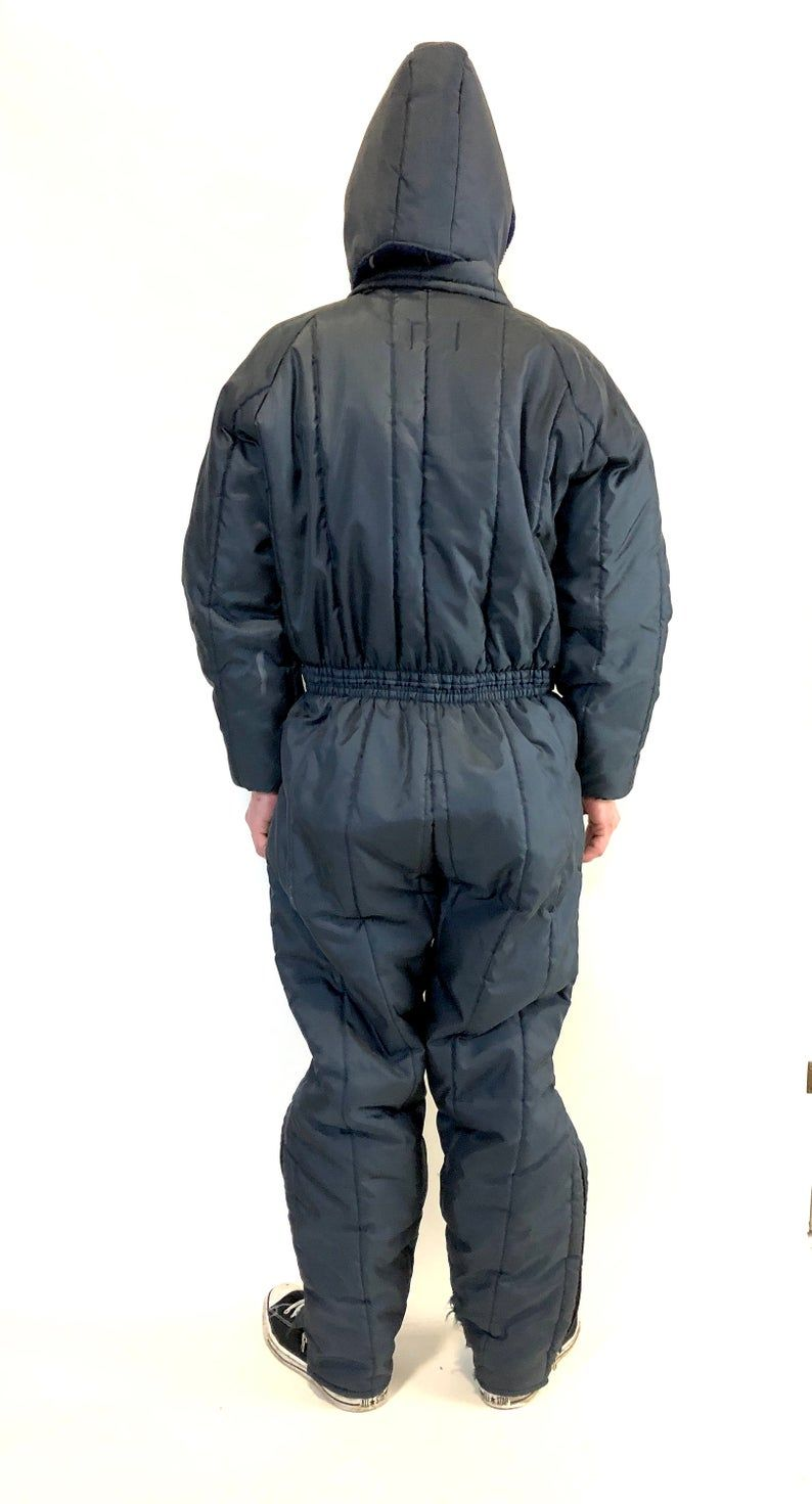 vintage mod striped snowsuit snow snowmobile suit jumpsuit on men s insulated coveralls with hood id=11310