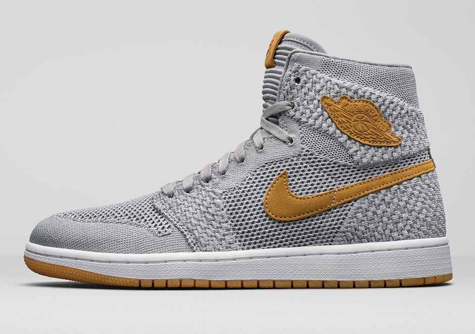 Official Images + Release Information: Air Jordan 1 Retro High Flyknit  Golden Harvest