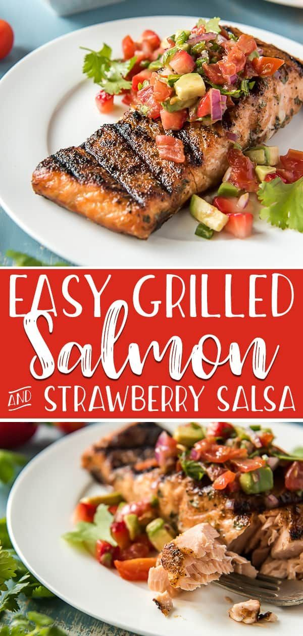 If you have never Grilled Salmon before, today is the day! A simple rub and 10 minutes on the grill rewards you with perfectly cooked and flavorful salmon - and a freshStrawberry Salsa is a refreshing way to top it off.