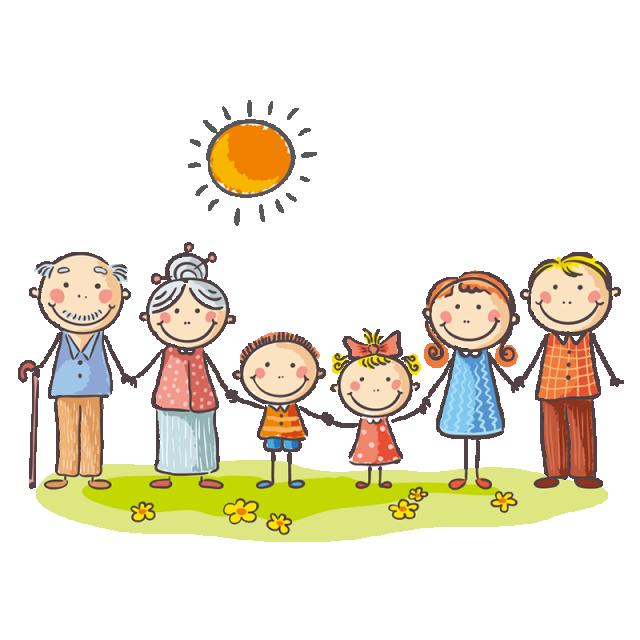 My Family Members   Family drawing, Family cartoon, Art drawings for kids