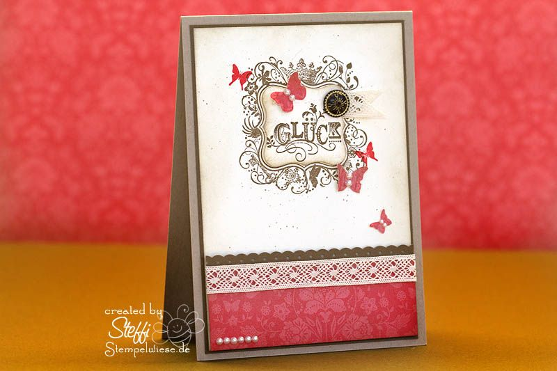 found a new blog. Love this card using Stampin Up Sale-A-Bration 2012 set Elementary Elegance