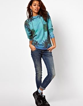 Image 4 ofIllustrated People Palm Print Sweatshirt