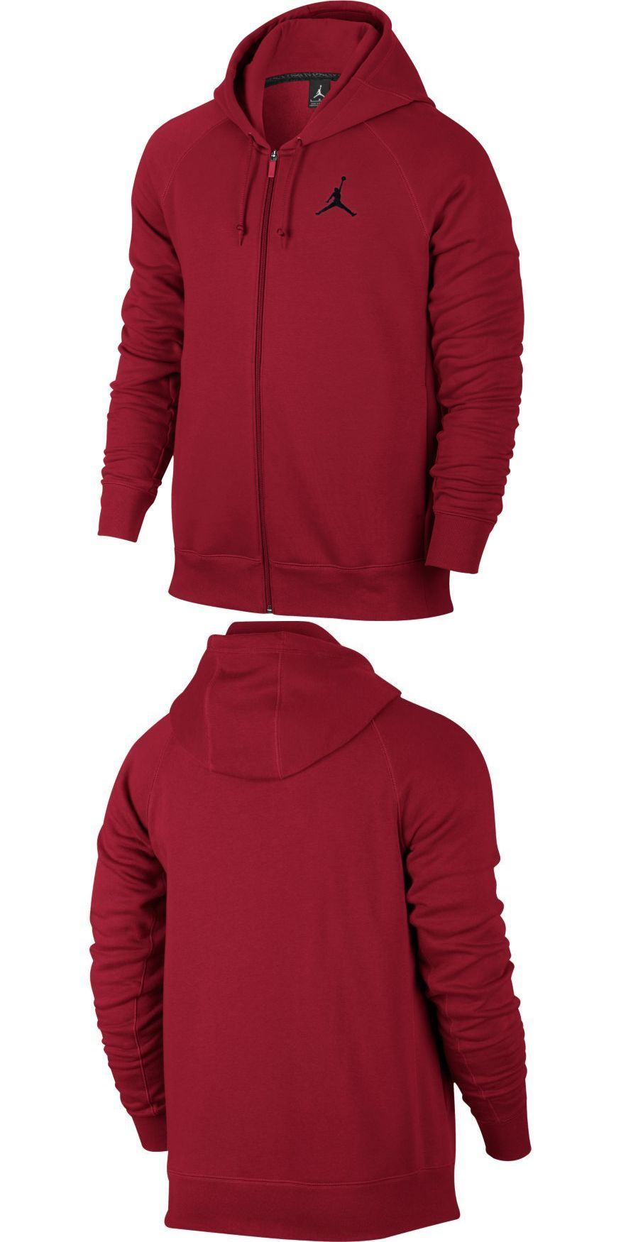 d110c81f3c72 Athletic Apparel 137084  Men Jordan Flight Fleece Full-Zip Hoodie Gym Red  Black  Z 823064-687 -  BUY IT NOW ONLY   44.99 on eBay!