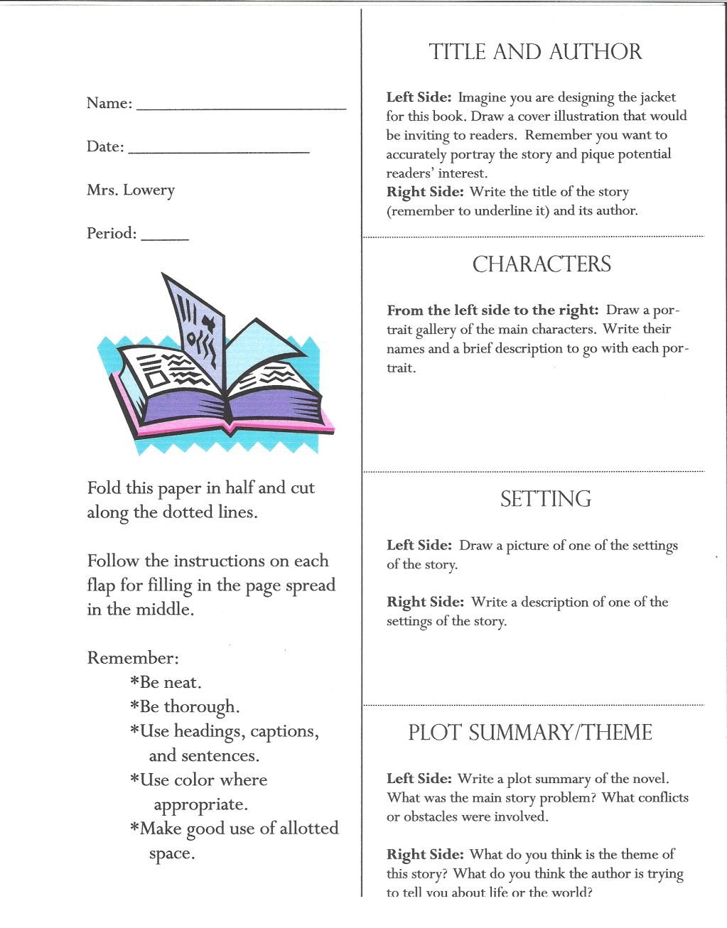 TeacherS File DrawerA Lift The Flap Book Report  Teacher And