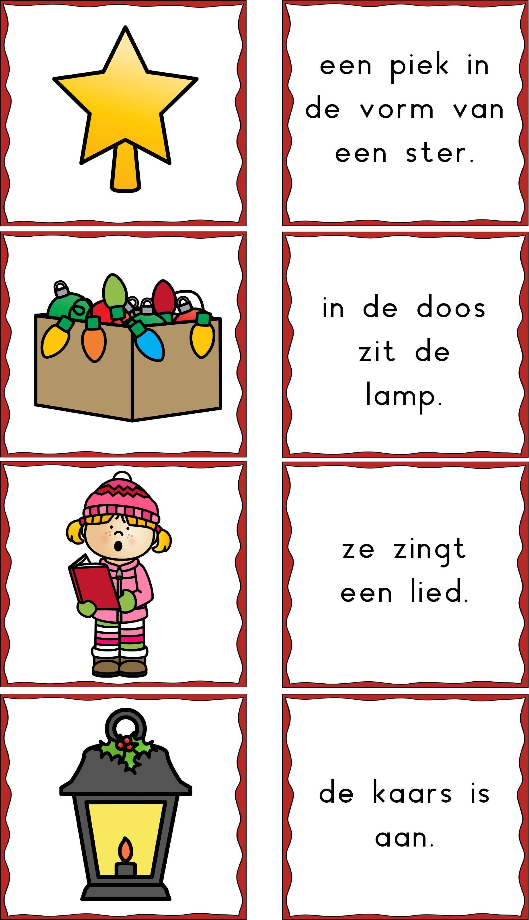 Fonkelnieuw Memorie kerst zinnen - voorbeeld van werkje met korte zinnen EI-19