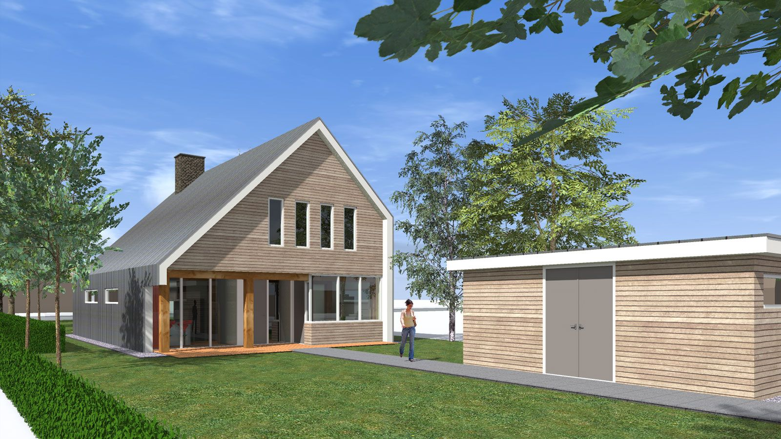 Aanbesteding moderne woning architectuur op maat bekijk ons portfolio en laat u verleiden tot - Moderne huis op een helling ...