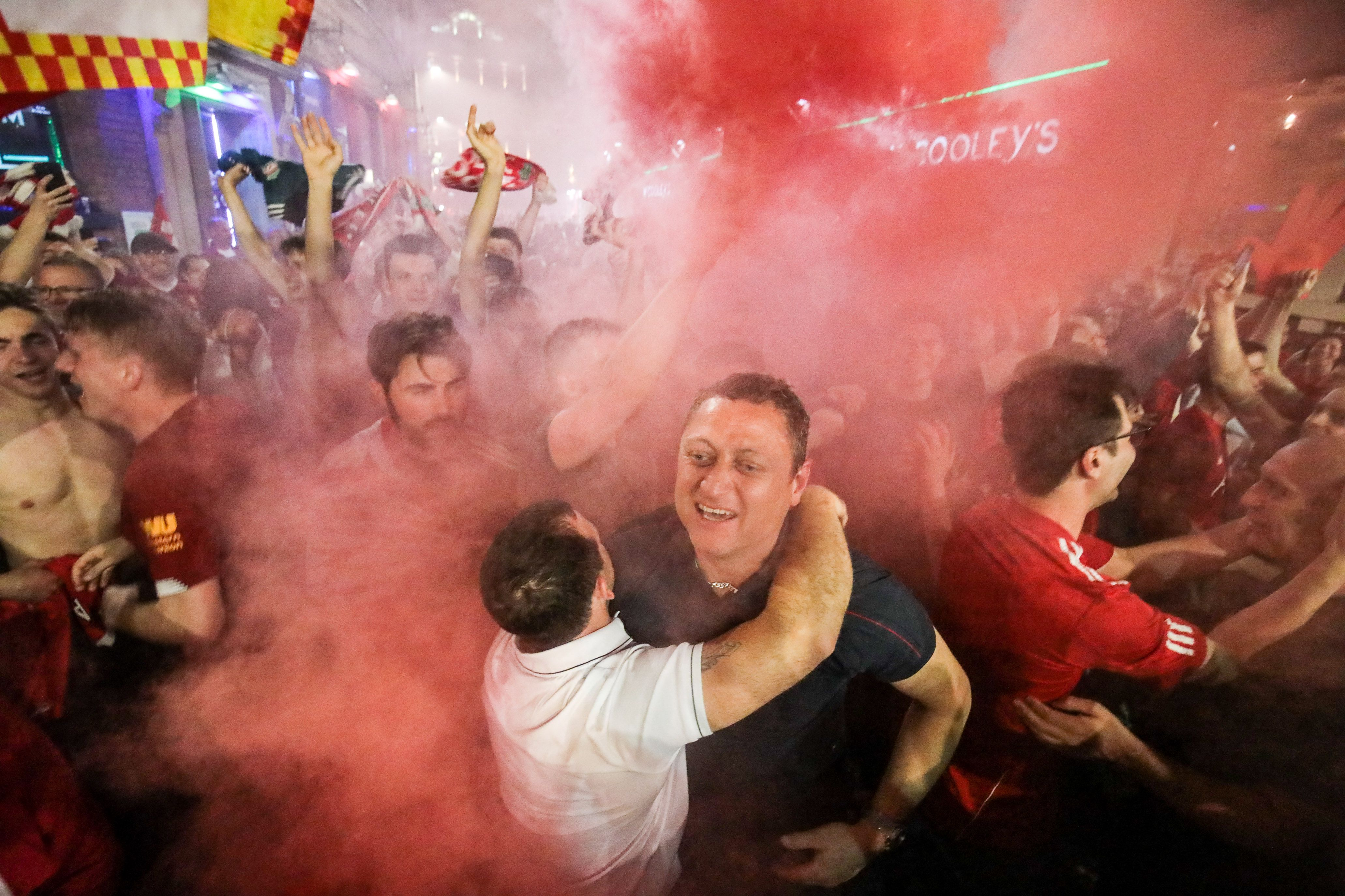 Liverpool Fans Celebrate All Night Following Champions